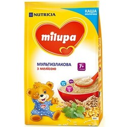 Milupa. Каша молочная Мультизлаковая с мелиссой (7m+) 210г (931154)