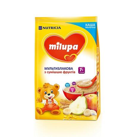 Milupa. Каша молочная Мультизлаковая с фруктами (7m+) 210г (5900852930010)
