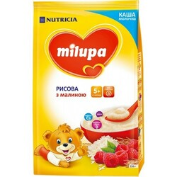 Каша Milupa молочна Рисова з малиною(5 m+) 210г(930065)