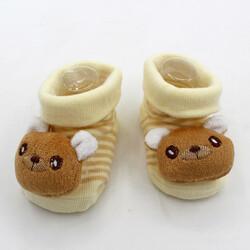 Носочки для новорожденных с мордочками животных, нескользящая подошва в асортименте (размер S)
