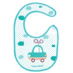 Canpol babies. Слюнявчик хлопчатобумажный с клеенчатым основанием, 1 шт (15-109)