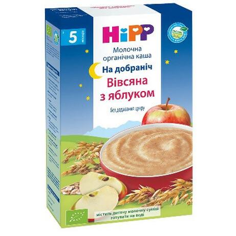HiPP. Молочная каша «Овсяная с яблоком» «Спокойной ночи», 6 мес+ 250 г. (3331)
