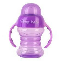 Baby Team. Поильник-непроливайка со спаутом и ручками, 180 мл, , 6мес+ (4824428050227)