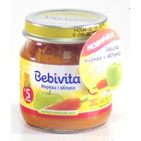 Пюре Фруктово-овощное Bebivita Морковь-яблоко, 100 г. (1805)