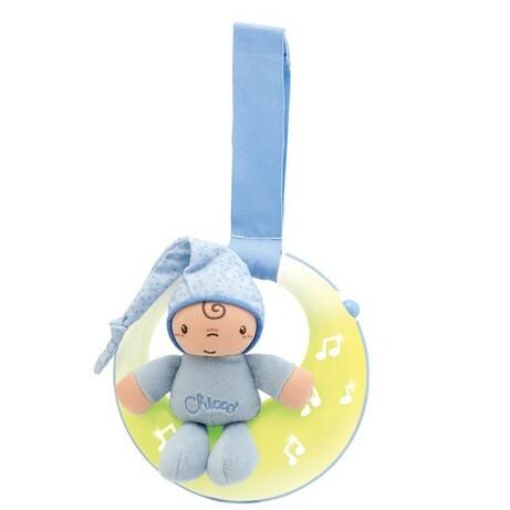 Chicco. Іграшка музична на ліжечко Good night Moon блакитна(8059147059626)