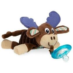 Nuby. Мягкая игрушка Олень, с держателем для пустышки (2000127071714)