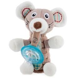 Nuby. Мягкая игрушка Мышка, с держателем для пустышки (2000127071721)