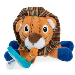 Nuby. Мягкая игрушка Лев, с держателем для пустышки (2000127071691)