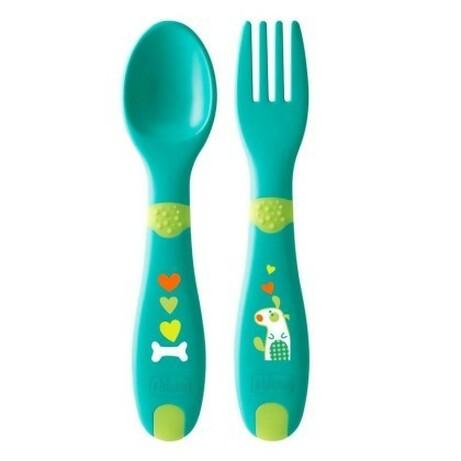 Chicco. Набор Ложка и вилка First Cutlery (8058664086627)