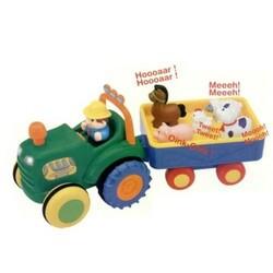 Kiddieland. Іграшка на колесах трактор з трейлером(на колесах, світло, озвучення укр. яз.) (024753)